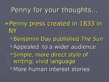 History of Print Journalism presentation