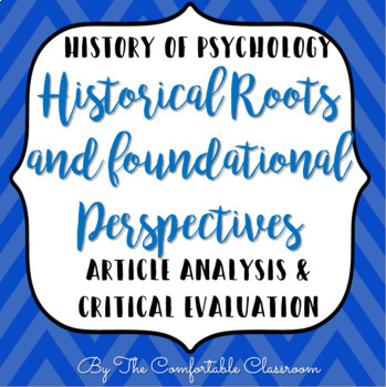 History of Psychology: Foundational Perspectives Analysis