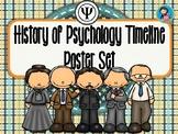 History of Psychology Timeline Poster Set