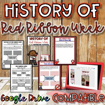 History of Red Ribbon Week {Digital AND Paper}