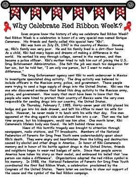 History of Red Ribbon Week Informational Text