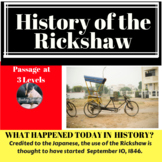 History of Rickshaw Differentiated Reading Passage September 10
