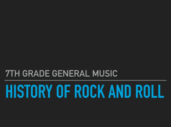 History of Rock and Roll- Part 1