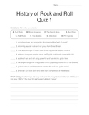 History of Rock and Roll - Quiz 1