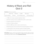 History of Rock and Roll - Quiz 2