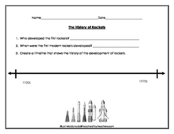 Space Exploration: History of Rockets Graphic Organizer