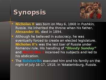 History of Russia - Key Figures - Tsar Nicholas II
