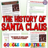 History of Santa Claus and Christmas in America Common Core Reading