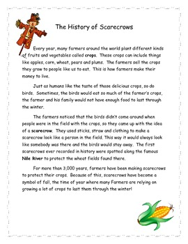History of Scarecrows