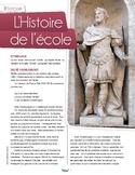 French text + activities + teacher's guide: Histoire de l'école