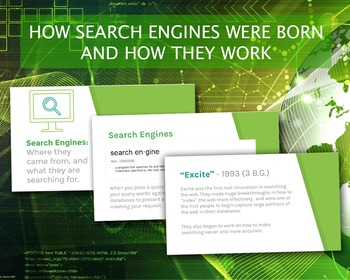 History of Search Engines and How They Work - Presentaton + Lesson!