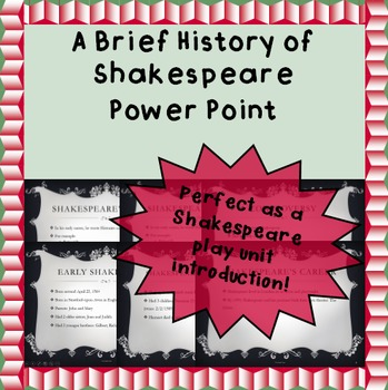 History of Shakespeare - A Power Point Presentation