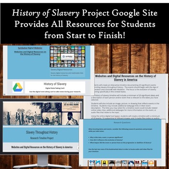 History of Slavery in America: Research and Digital Timeline Project