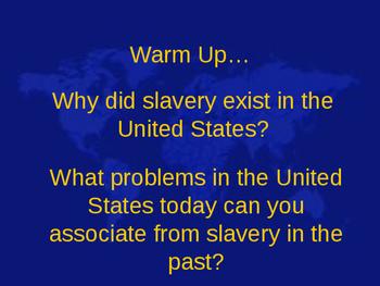 History of Slavery in America timeline
