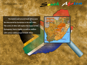 History of South Africa: 4-PART UNIT with 100 rich slides (handouts included)