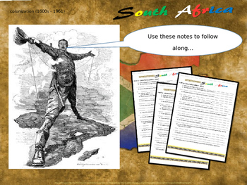 History of South Africa: PART 3 of 100-slide, 4-PART UNIT (handouts included)