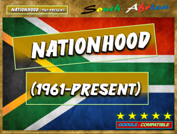 History of South Africa: PART 4 of 100-slide, 4-PART UNIT