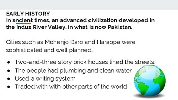 History of South Asia PowerPoint/Gallery Walk
