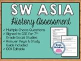 History of Southwest Asia Assessment (Editable)