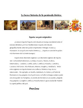Reading on Spain for Spanish 1+ Comprehensible History (mostly present tense)