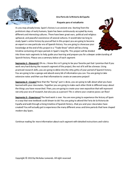 History of Spain Trade Show Project for Spanish or History Class