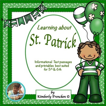 History of St. Patrick: Informational Text Passages & Printables