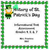 History of St. Patrick's Day Informational Text Assessment