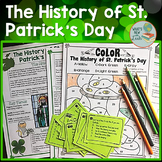 History of St. Patrick's Day Reading with Task Cards and C