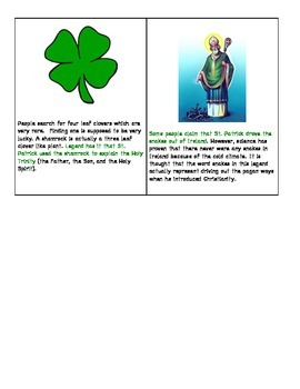 History of St. Patrick's Day Information Cards