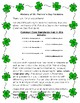 History of St. Patrick's Day Reading and Writing Activity