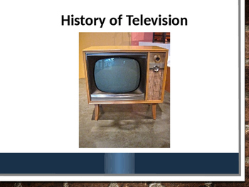 History of Television Book - Editabe PowerPoint version