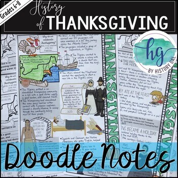 History of Thanksgiving Doodle Notes