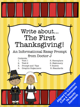 First Thanksgiving Informational Essay Common Core TN Ready Aligned