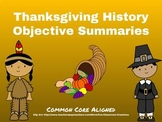 History of Thanksgiving Objective Summaries