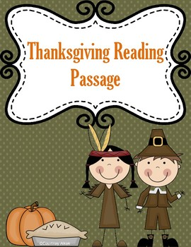 History of Thanksgiving Reading Passage