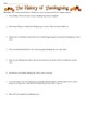History of Thanksgiving Reading and Worksheet
