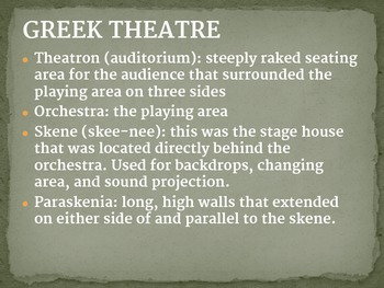 History of Theatre Architecture and Stage Technology Presentation