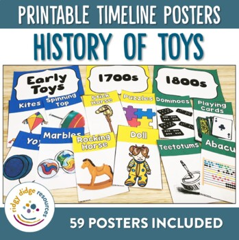 History Of Toys Timeline Posters By Ridgy Didge Resources Tpt