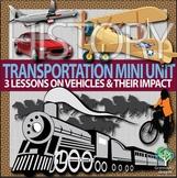 History of Transportation Mini Unit - boats, horses, bikes, cars, & planes