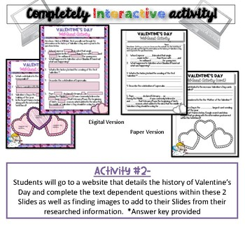 History of Valentine's Day {Digital AND Paper
