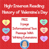 History of Valentine's Day: FREE Informational Text Passage