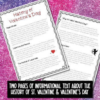 History of Valentine's Day Reading Passage with Critical Thinking Questions