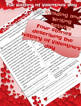 History of Valentine's Day Reading Comprehension - Four Stories!