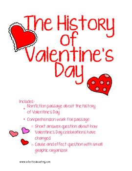 History Of Valentines Day Reading Comprehension