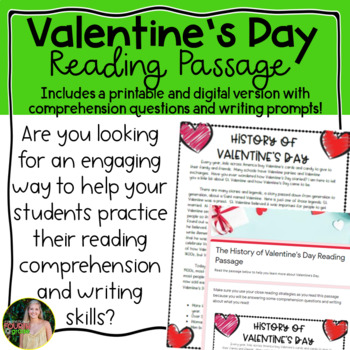 Valentine's Day Reading Passage by Fantastically Fourth Grade | TpT
