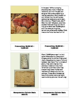 History of Writing 3-Part Cards