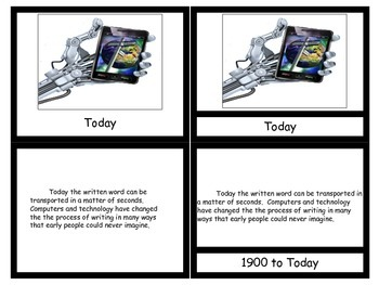 History of Writing 3 or 5 Part Cards