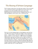History of Written Language - Three/Four Part Cards and Informational Sheets