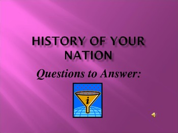 History of Your Nation : Power Point