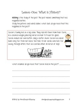 History of a Community Student Work Packet